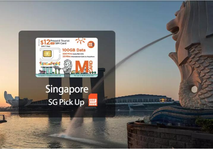 SIM 4G Singapore (Nhận ở Singapore)